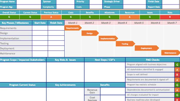 Project-Status-Report-Template-Excel
