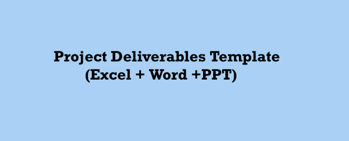 Project Deliverables Template Excel